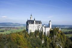 Castelo no outono, Baviera de Neuschwanstein, Alemanha Imagens de Stock Royalty Free