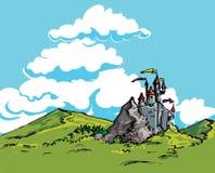 Castelo no país ilustração do vetor