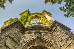 Castelo no parque de Varosliget, Budapest de Vajdahunyad, Hungria Foto de Stock Royalty Free