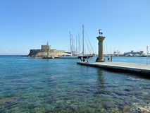 Castelo no Rodes, Greece Imagens de Stock Royalty Free