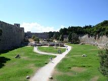 Castelo no Rodes, Greece Foto de Stock