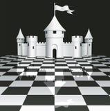 Castelo no tabuleiro de xadrez Fotos de Stock Royalty Free