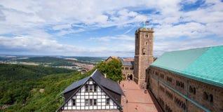 Castelo no Thuringia, Alemanha de Wartburg imagens de stock