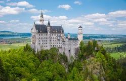 Castelo no verão, Baviera de Neuschwanstein, Alemanha Fotos de Stock Royalty Free