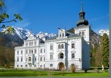 Castelo nos cumes, Lofer, Áustria Foto de Stock Royalty Free