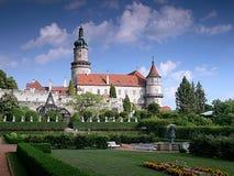 Castelo Nove Mesto em cima de Metuje Fotos de Stock Royalty Free