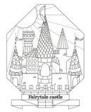 Castelo original da fada do estilo da garatuja Imagens de Stock