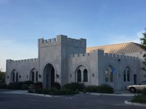 Castelo Paso Robles Califórnia da sala de gosto da adega de Eagle Castle Winery/dente & do prego imagens de stock royalty free