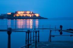 Castelo pelo mar fotografia de stock royalty free