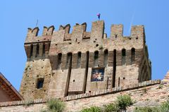Castelo perto de Ancona, Marche, Itália Imagens de Stock Royalty Free