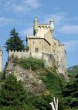 Castelo perto de Aosta, Italy imagens de stock royalty free