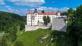 Castelo Pieskowa Skala perto de Krakow, Polônia Fotografia de Stock Royalty Free