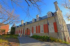 Castelo Ramezay, Montreal velho, Canadá imagem de stock