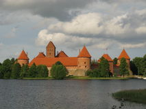 Castelo real de Trakai, Lithuania Imagens de Stock Royalty Free
