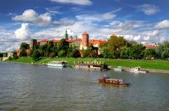 Castelo real de Wawel em Cracow Imagens de Stock
