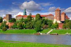 Castelo real de Wawel em Cracow Imagem de Stock