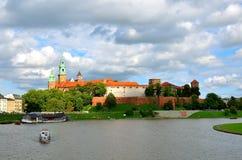 Castelo real de Wawel em Cracow, Poland Fotografia de Stock