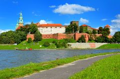 Castelo real de Wawel em Cracow, Poland Fotos de Stock