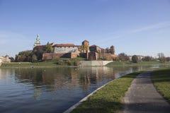 Castelo real de Wawel em Krakow Fotos de Stock