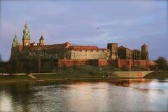 Castelo real em Krakow fotografia de stock royalty free