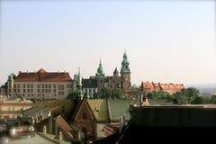 Castelo real em Krakow, Poland imagem de stock