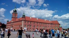 Castelo real em Varsóvia imagens de stock