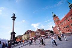 Castelo real em Varsóvia Foto de Stock