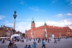 Castelo real em Varsóvia Fotografia de Stock