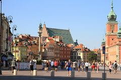 Castelo real em Varsóvia Fotografia de Stock Royalty Free
