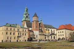 Castelo real em Wawelu.Poland Fotografia de Stock Royalty Free