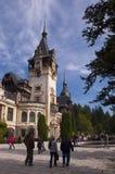 Castelo real famoso de Peles, Sinaia, Romênia Fotografia de Stock