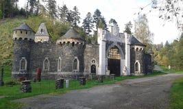 Castelo romântico (castelo) Kunzov, região de Olomouc, República Checa Fotografia de Stock Royalty Free
