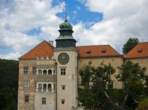 Castelo romântico, palácio do renascimento Fotografia de Stock Royalty Free