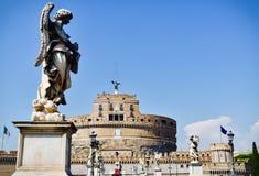 Castelo San Angelo, Rome, Italië Stock Afbeeldingen