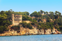 Castelo Sant Joana na costela Brava fotografia de stock