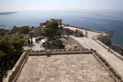 Castelo Santa Barbara em Alicante. Fotos de Stock