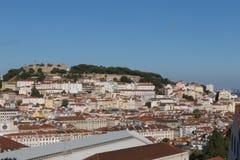 Castelo Sao Jorge in Lisbon Royalty Free Stock Photos