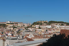 Castelo Sao Jorge in Lisbon Royalty Free Stock Images