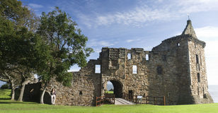 Castelo Scotland do St Andrews fotografia de stock