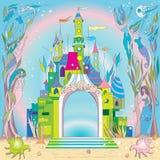 Castelo subaquático ilustração royalty free