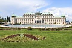 Castelo superior Viena Áustria Europa do palácio do Belvedere com landsca fotos de stock royalty free