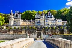Castelo Usse do conto de fadas Castelos de Bautiful de Loire Valley no franco imagem de stock royalty free