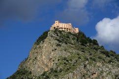 Castelo Utveggio over the Palermo city in Sicily Stock Images