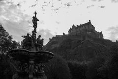 Castelo V de Edimburgo foto de stock royalty free