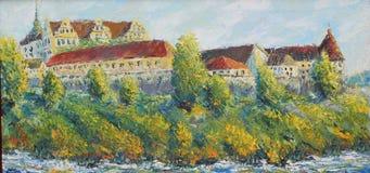 Castelo velho Bautzen ilustração do vetor