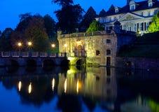 Castelo velho da cidade Pyrmont mau em Alemanha Imagens de Stock