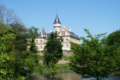 castelo velho de Radun na república checa foto de stock