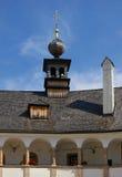 Castelo velho do lago Gmunden fotografia de stock