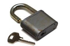 Castelo velho e uma chave imagens de stock royalty free