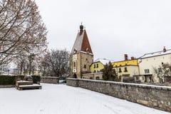 Castelo velho em Freistadt - Upper Austria fotos de stock royalty free